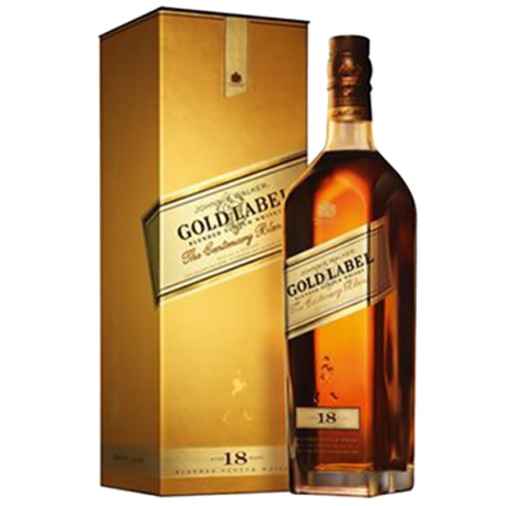 Whisky Johnnie Walker Gold Label 18 Years Old.
