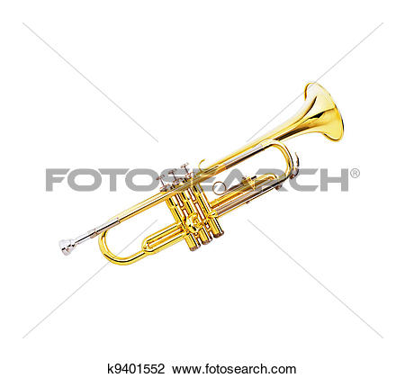 Stock Photo of gold lacquer trumpet k9401552.