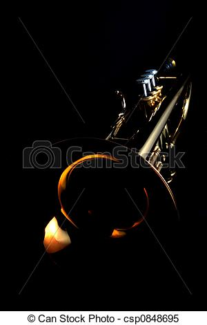 Stock Images of gold trumpet.