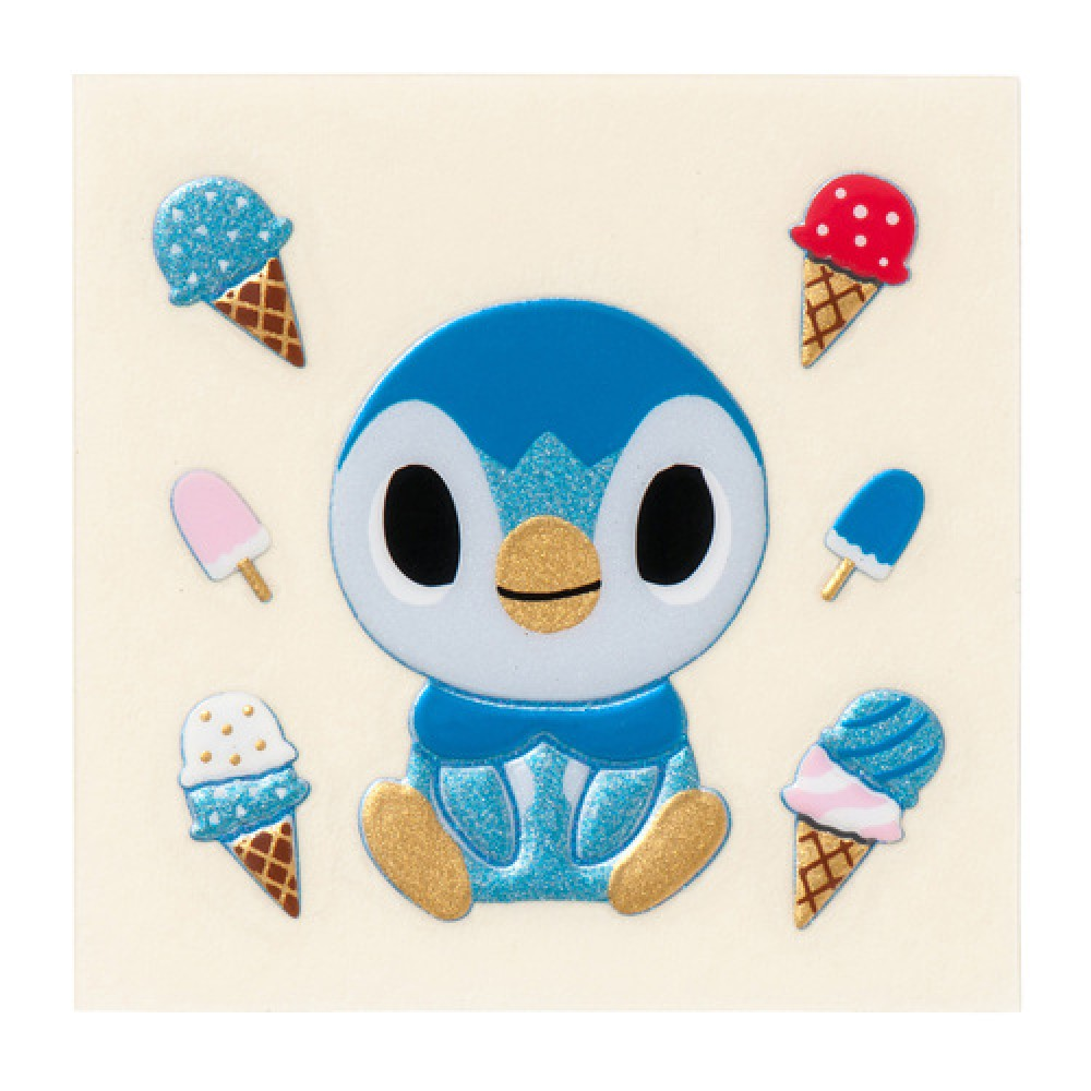 Japan Pokemon Center Limited] gold lacquer pokemon time Piplup.