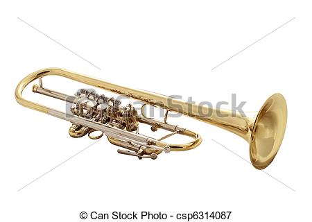 Picture of gold trumpet.