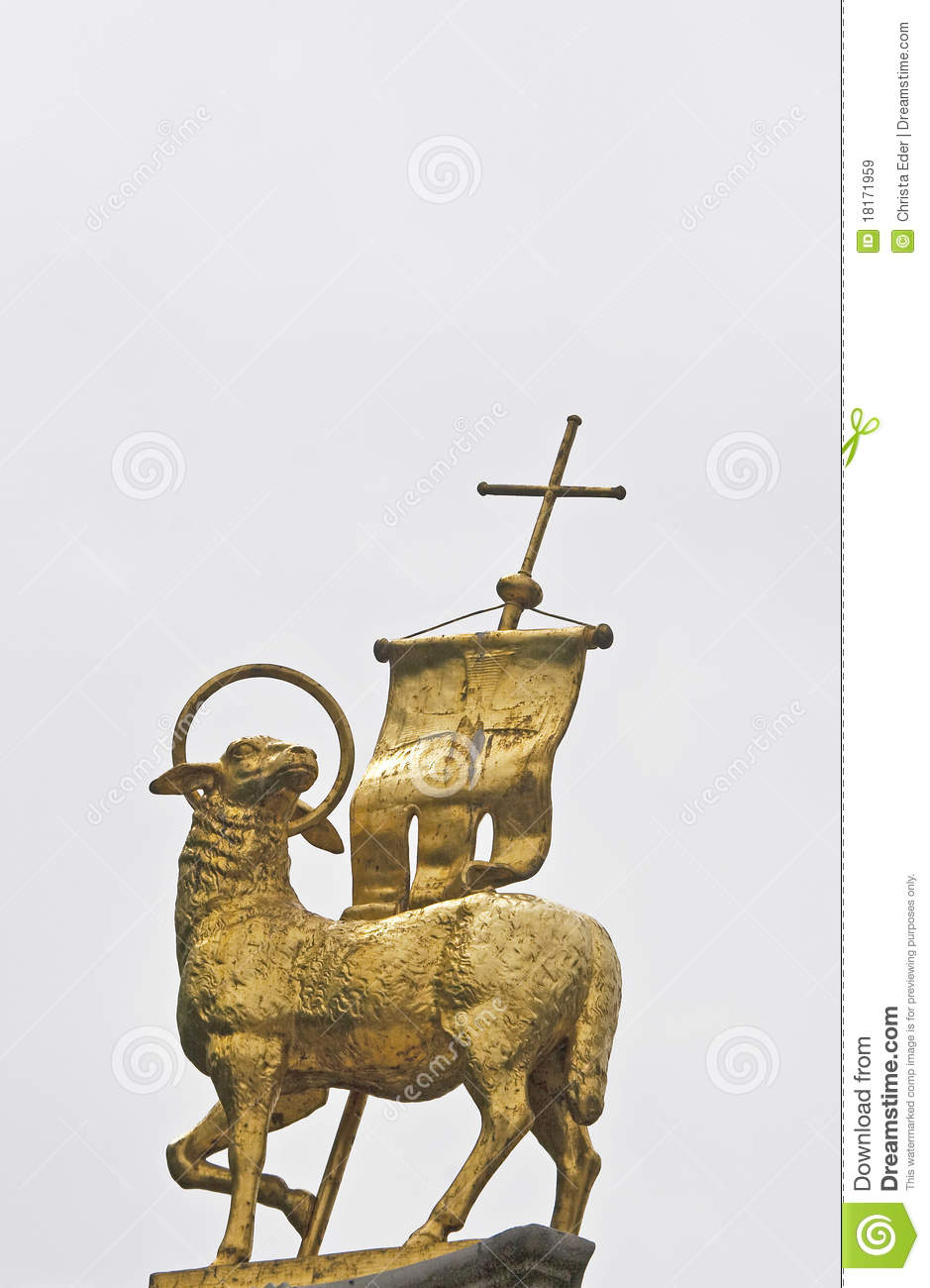 Golden Lamb Royalty Free Stock Images.