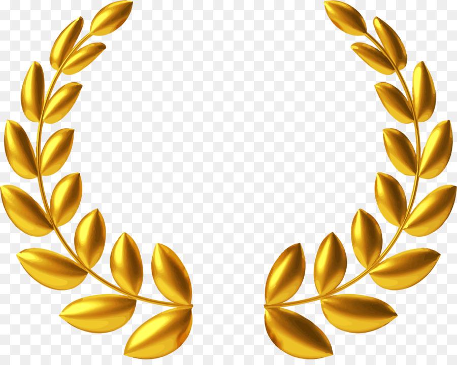 Gold Laurel clipart.