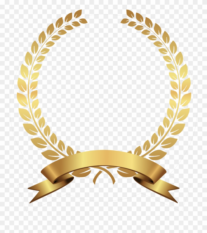 Gold Laurel Wreath Png.