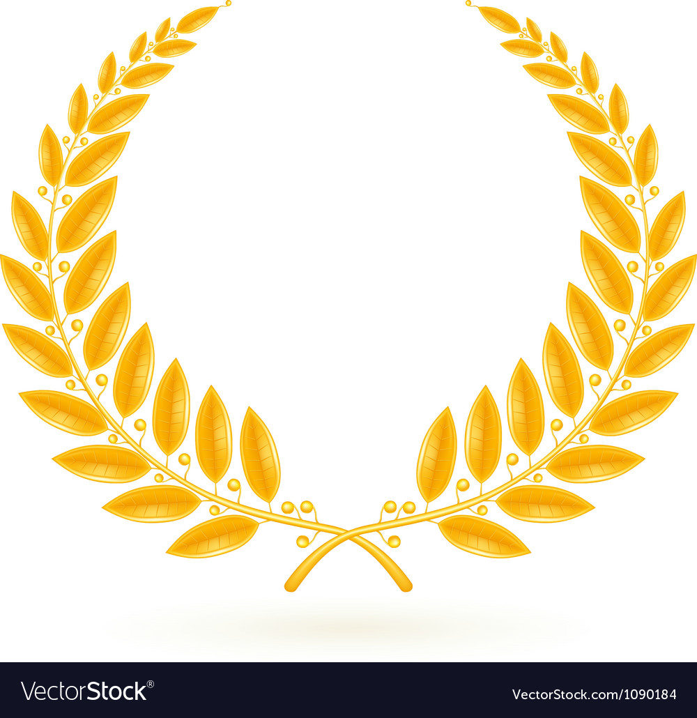 Gold Laurel Wreath.