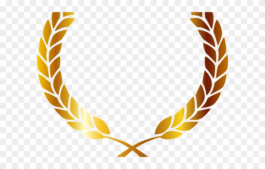 Golden Clipart Laurel Wreath.