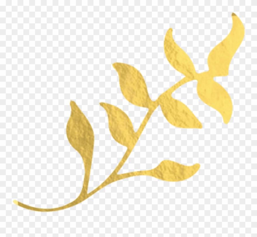Free Png Download Gold Foil Leaf Png Images Background Clipart.