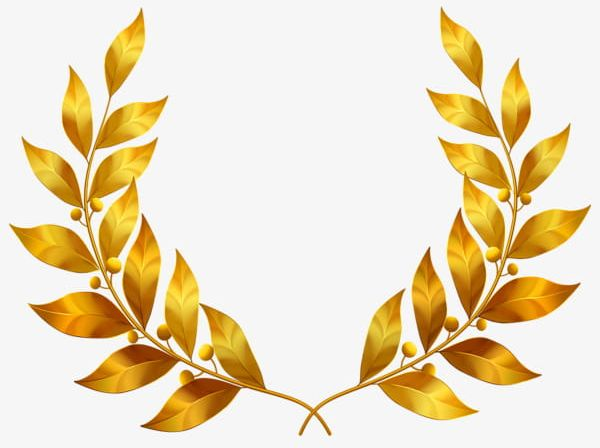 Golden Laurel Leaves PNG, Clipart, Gold, Golden, Golden Clipart.
