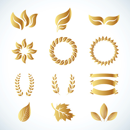 Clipart gold leaf.