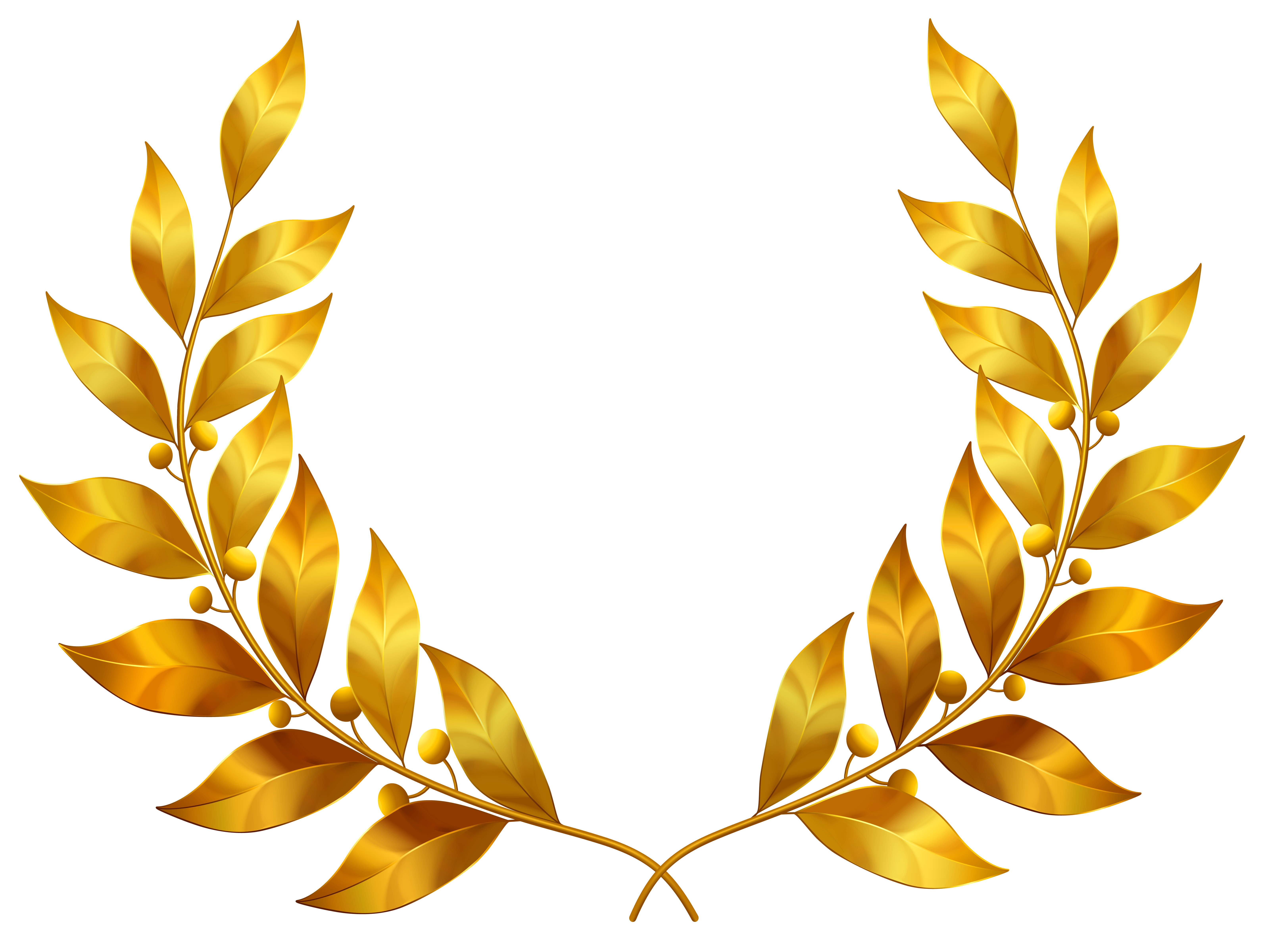 Gold Leaves Clip Art.