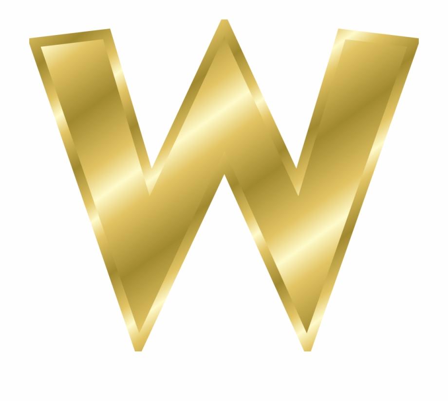 Effect Letters Alphabet Gold Gold Letter W Clipart.