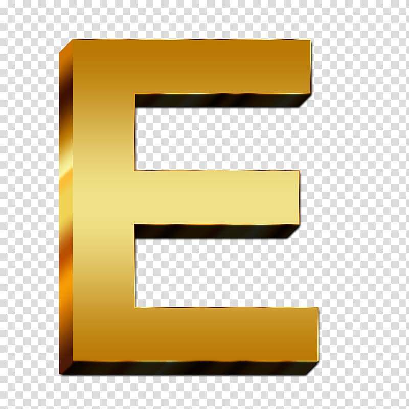 Letter Alphabet Zhe, gold letters transparent background PNG.