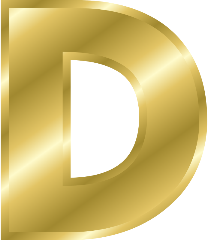 Free Clipart: Effect Letters alphabet gold.