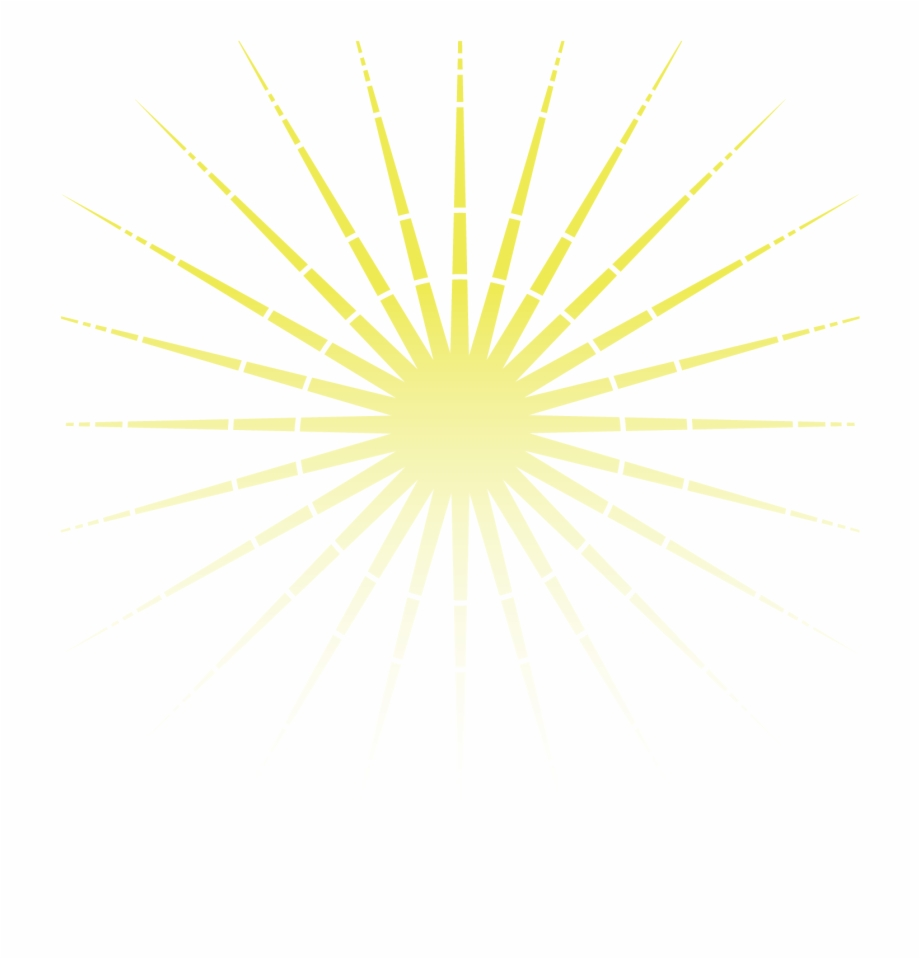 Rays Gold Light Yellow Facula Vector Sun Clipart.