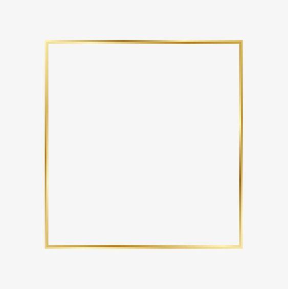 Golden Flare Frame, Frame Clipart, Golden Frame, Simple.