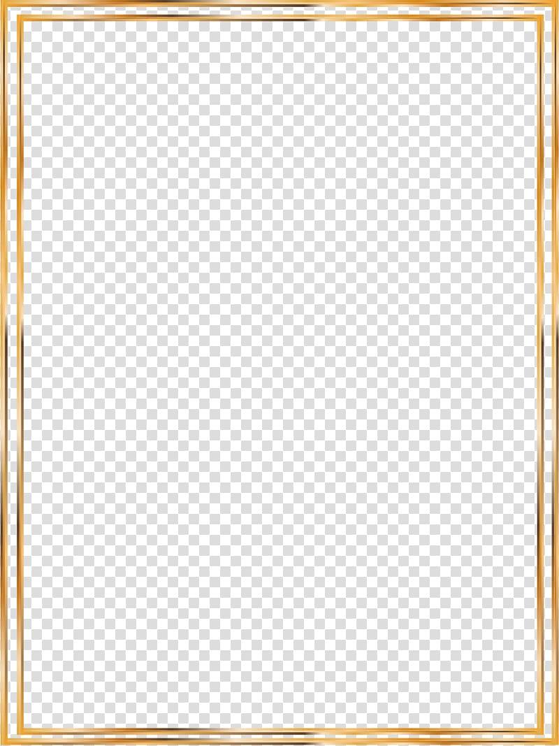 Rectangular brown frame illustratrion, Icon, Gold Line.