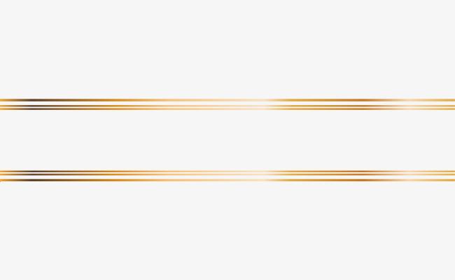 Golden Line Frame, Line Clipart, Frame Clipart, Golden PNG.