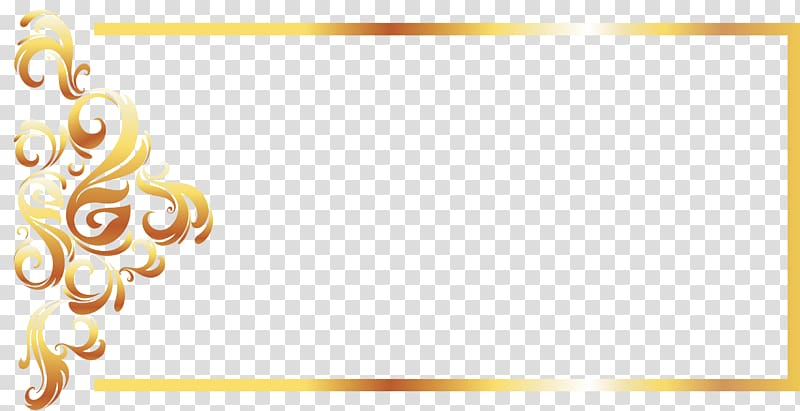 Yellow Recreation Pattern, Gold Line border European.