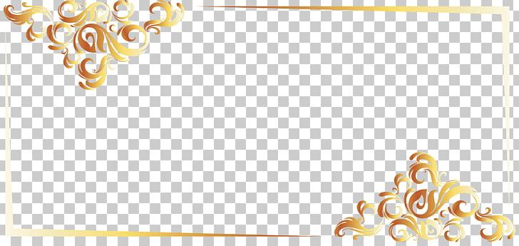 PostScript Font, Gold Line border European , gold frame PNG.