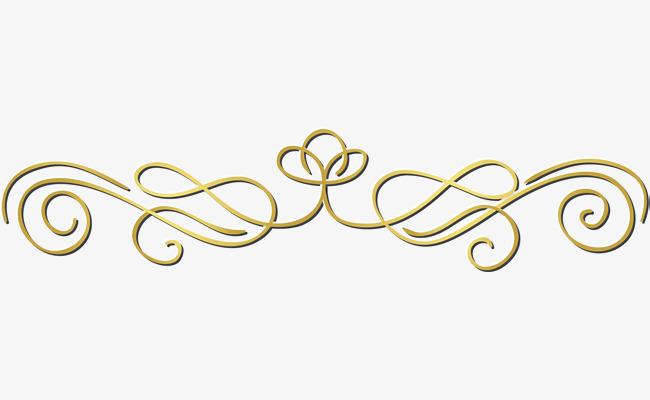 71+ Decorative Line Gold Clipart.