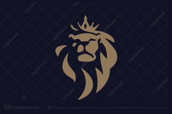 Exclusive Logo 78108, Crowned Golden Lion Logo.