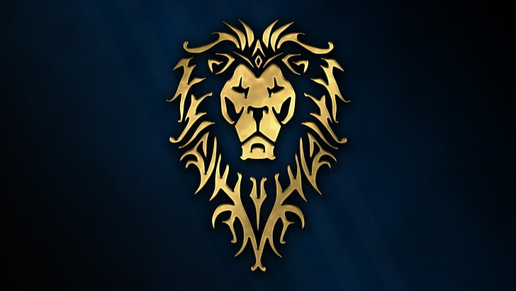 HD wallpaper: gold lion logo, cinema, golden, game, Warcraft.