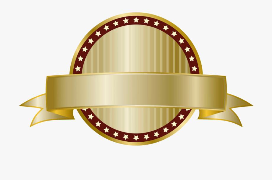 Golden Label Png Download Image.