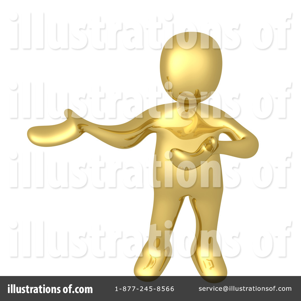 Gold Man Clipart #1050850.