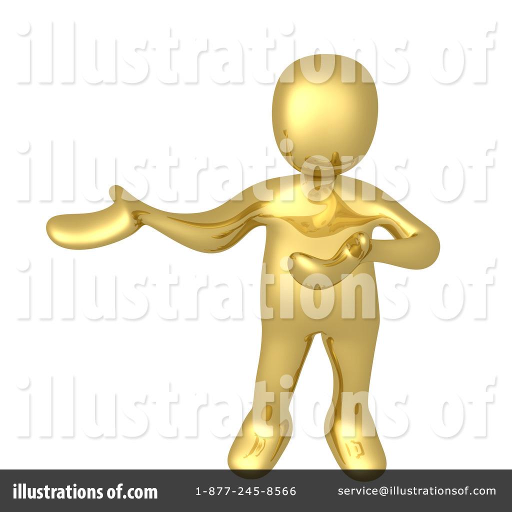 Gold Man Clipart #1050850.