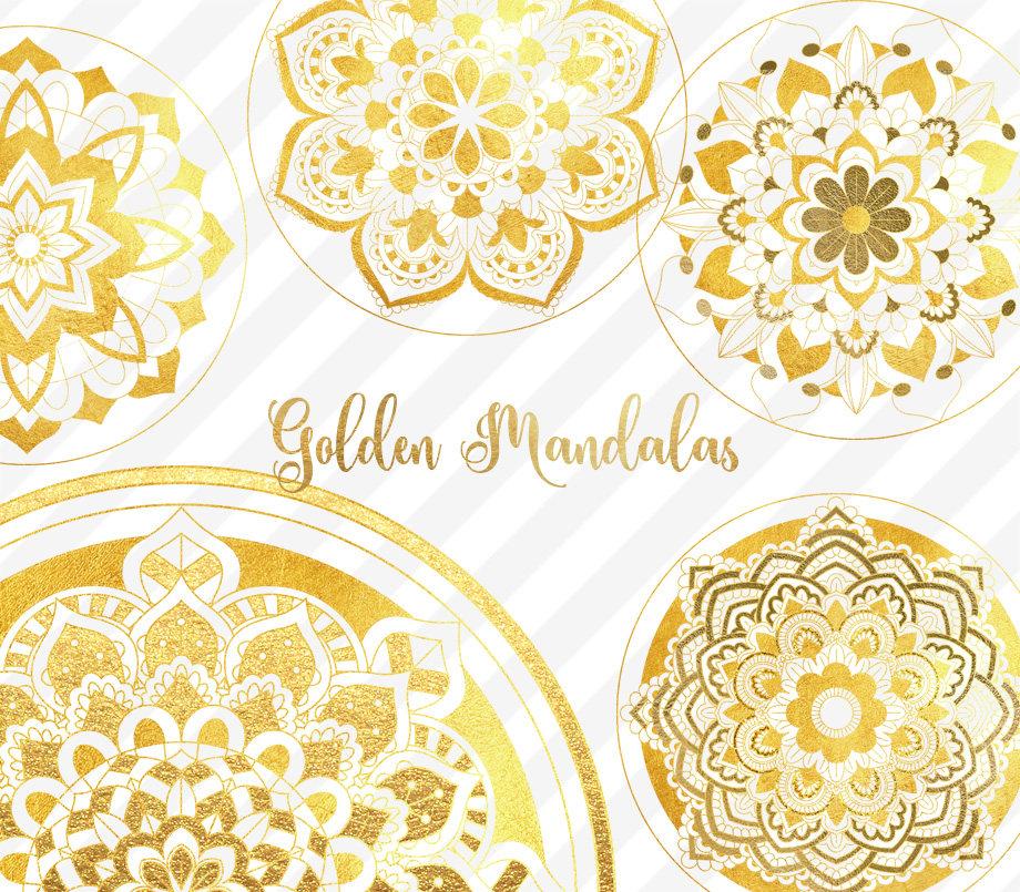 Gold Mandala Clipart.