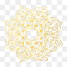 Gold Mandala PNG and Gold Mandala Transparent Clipart Free.