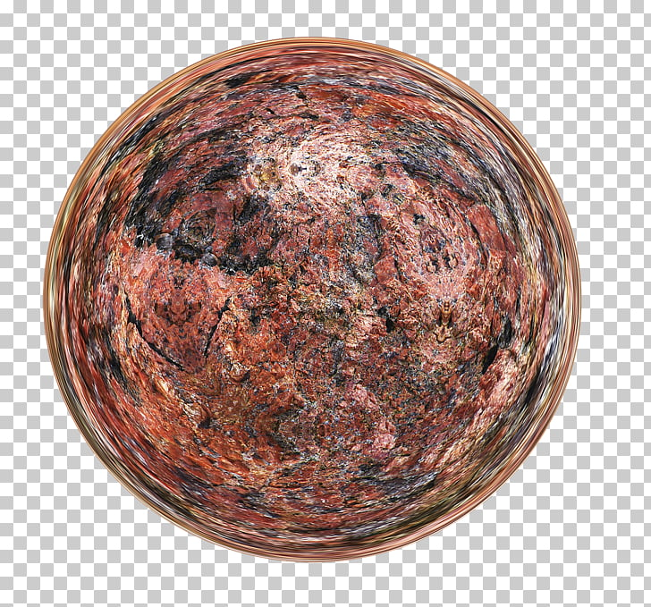 Copper Sphere, Gold Marble PNG clipart.