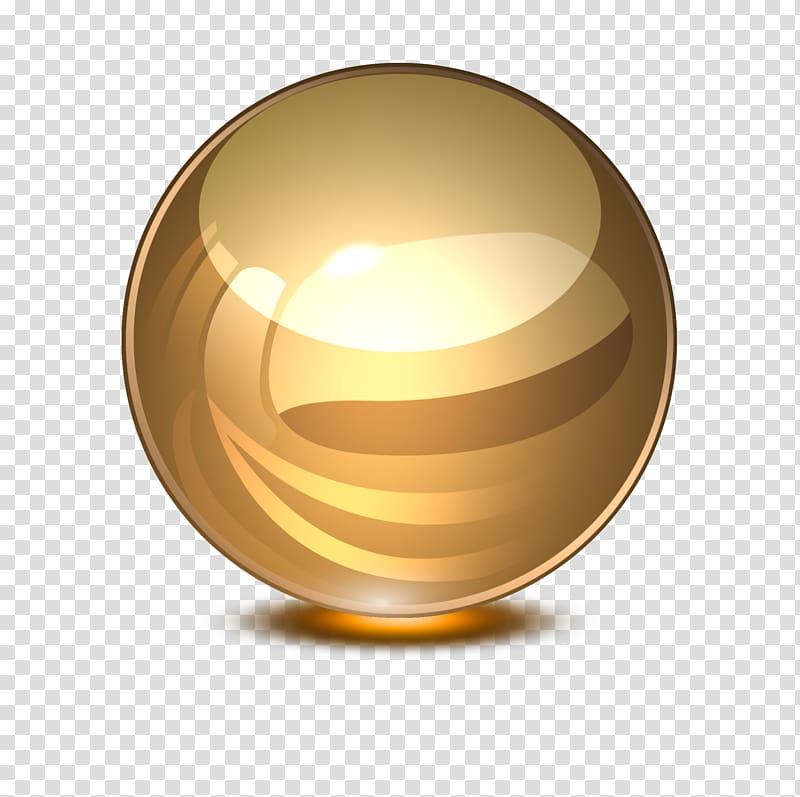 Gold plated ball, Glass Ball Marble Computer file, Glass.