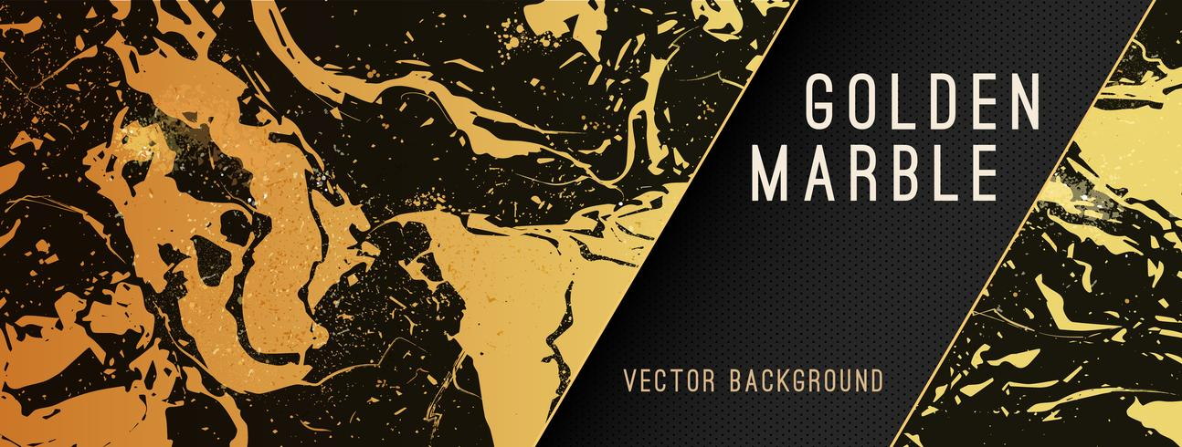 Gold Marble Vector Background with Banner.