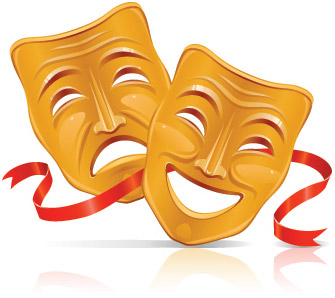 Drama Mask Clip Art, Vector Drama Mask.