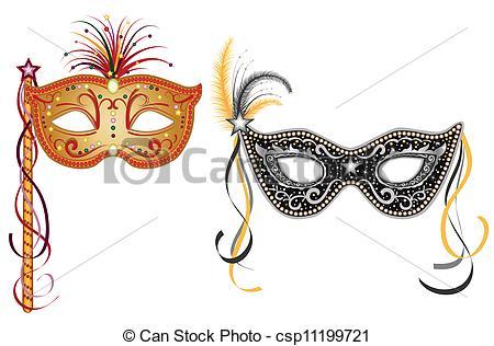 Vector Illustration of Carnival masks.