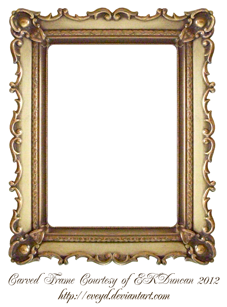 Antique Frame Clipart Gold.