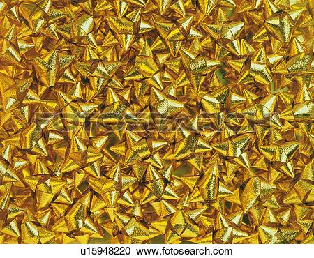 Stock Photography of Mass of gold ribbons for wrapping u15948220.