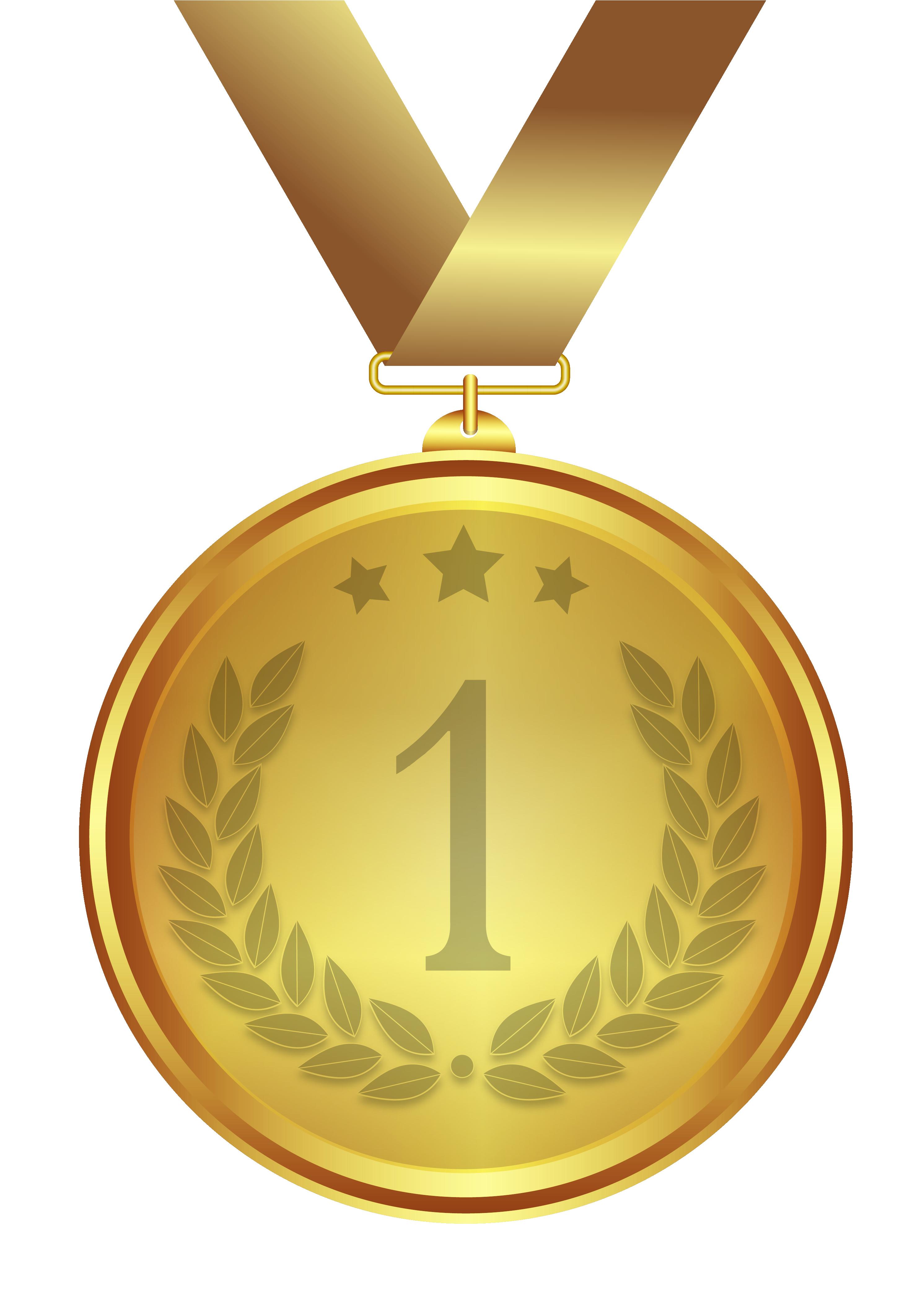 Gold Medal PNG Image.