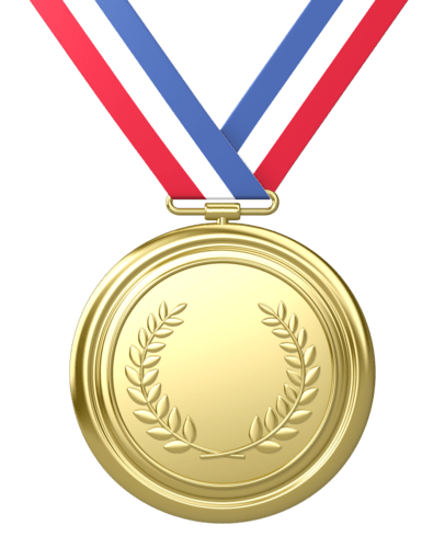 Gold Medal Ribbon transparent PNG.