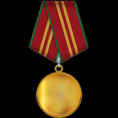 Gold Medal Ribbon transparent PNG.