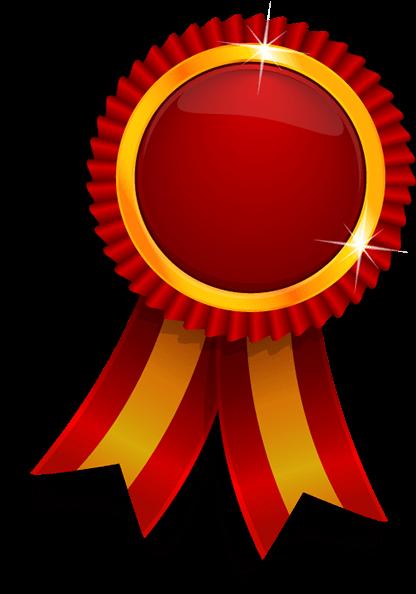 Gold medal ribbon clipart.