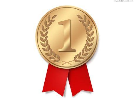 Gold Medal Clip Art, Vector Gold Medal.