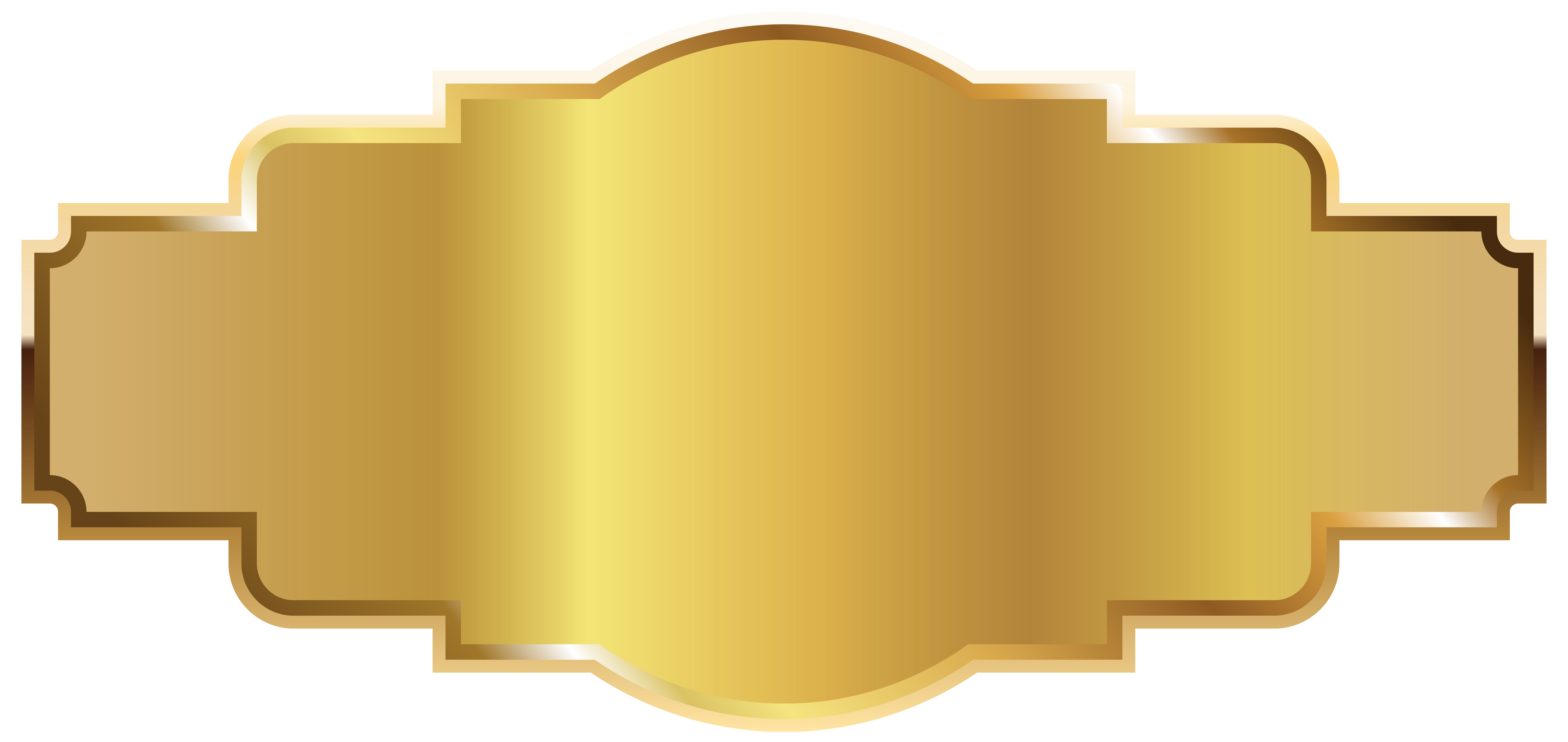 Gold Label Template PNG Image.