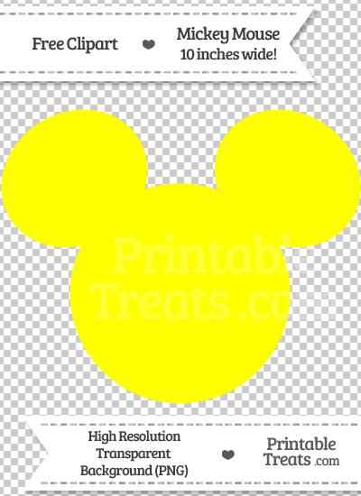 Yellow Mickey Mouse Head Clipart — Printable Treats.com.