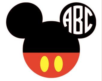 Mickey head iron on.