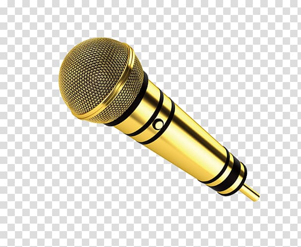 Gold microphone, Microphone Icon, Golden Microphone.