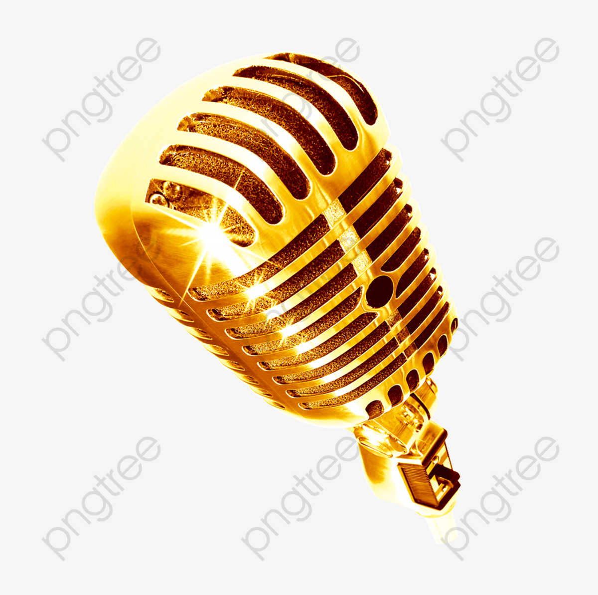 Gold Microphone, Microphone Clipart, Microphone, Gold PNG.