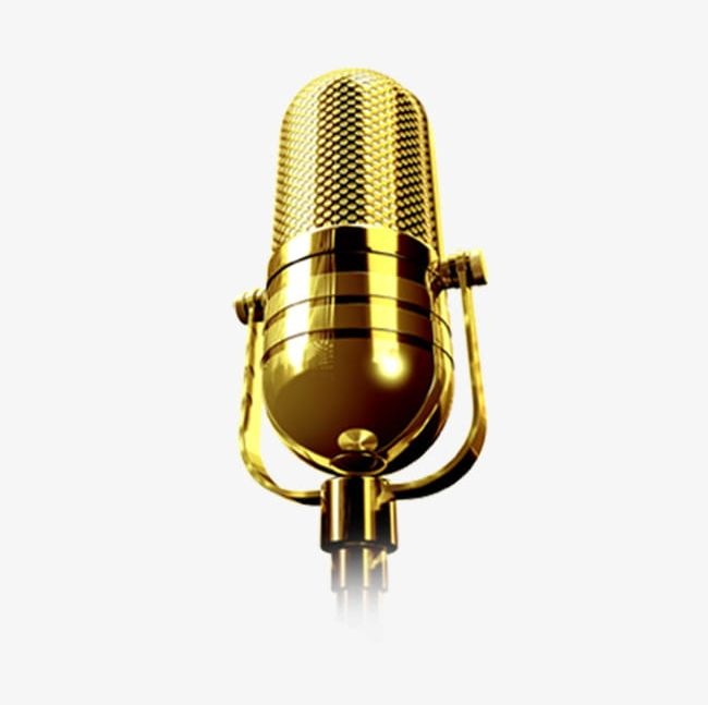 Microphone PNG, Clipart, Golden, Golden Microphone, Microphone.