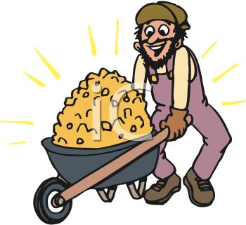 Gold Mining Clipart.